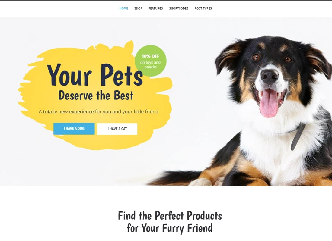 Whiskers - Pets Store | Vet Clinic | Animal Adoption Website Template
