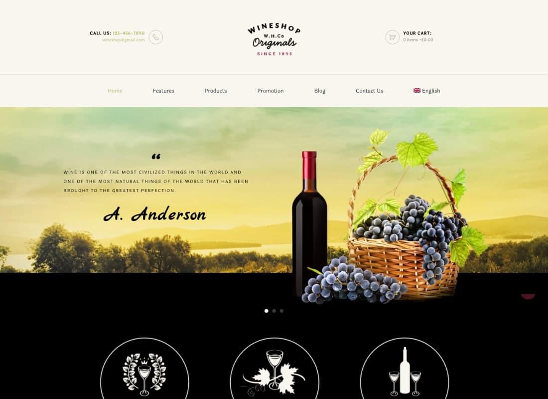 WineShop - Food & Wine Online Delivery Store WordPress Theme Website Template