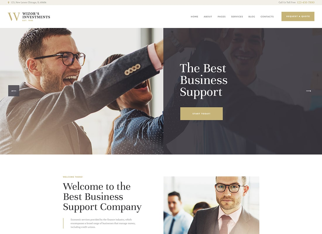 Wizor's | Investments & Business Consulting WordPress Theme   Website Template