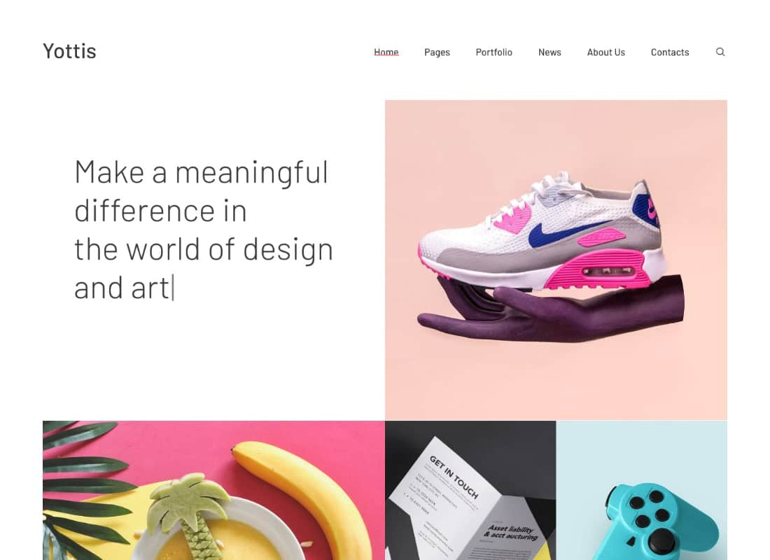 Yottis | Personal Creative Portfolio WordPress Theme + Store Website Template