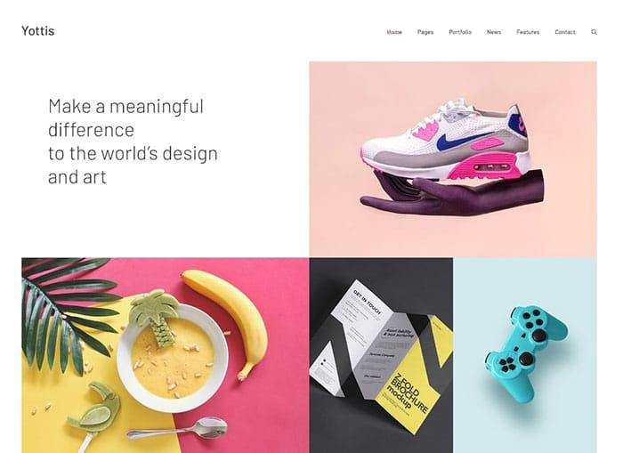 Yottis | Personal Creative Portfolio WordPress Theme + Store Website Template