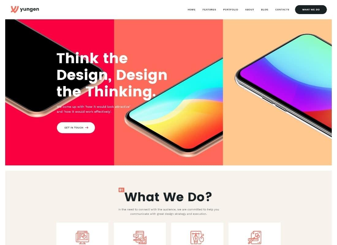 Yungen | Modern Digital Agency Business WordPress Theme Website Template