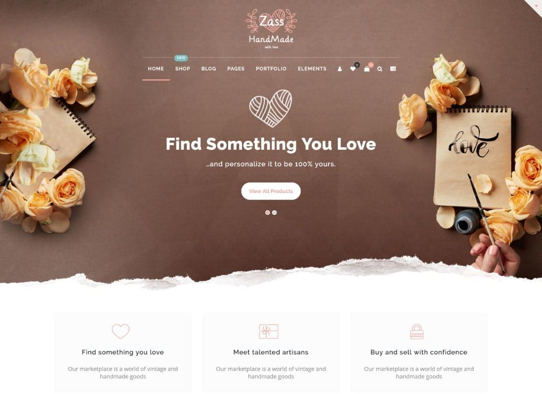 Zass | WooCommerce Theme for Handmade Artists and Artisans Website Template