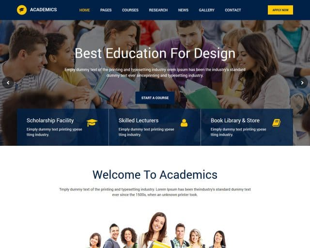 20+ Best Education HTML Website Templates 2018