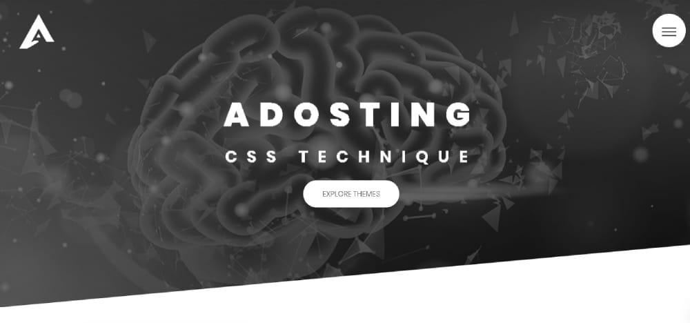 Adosting Website Template