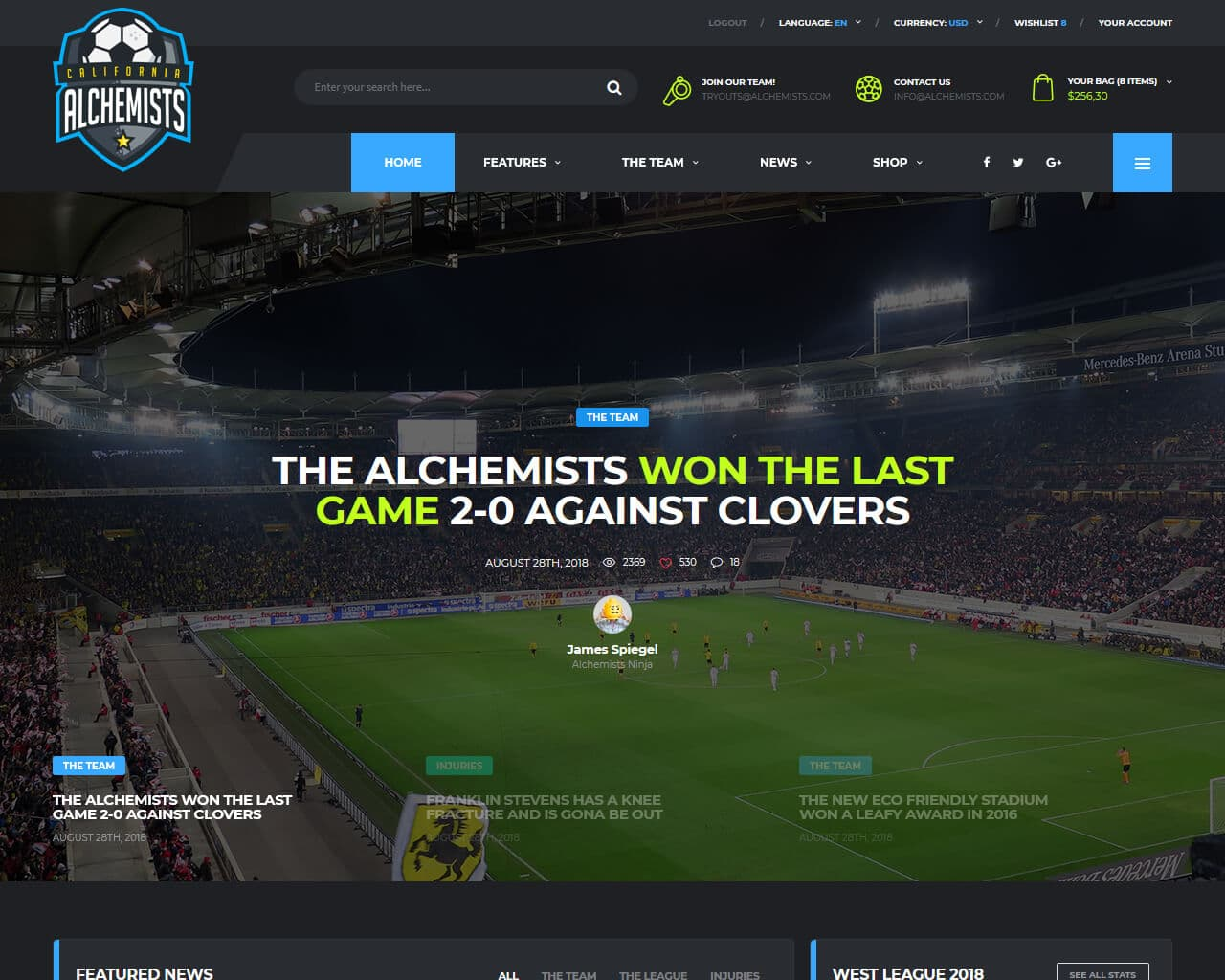 Alchemists Website Template