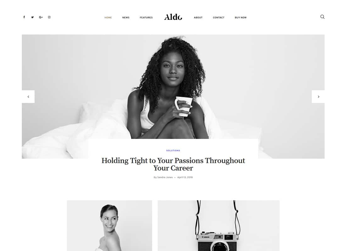 Aldo | Gutenberg Blog WordPress Theme Website Template