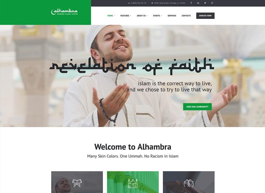 Alhambra | Islamic Centre WordPress Theme + RTL Website Template