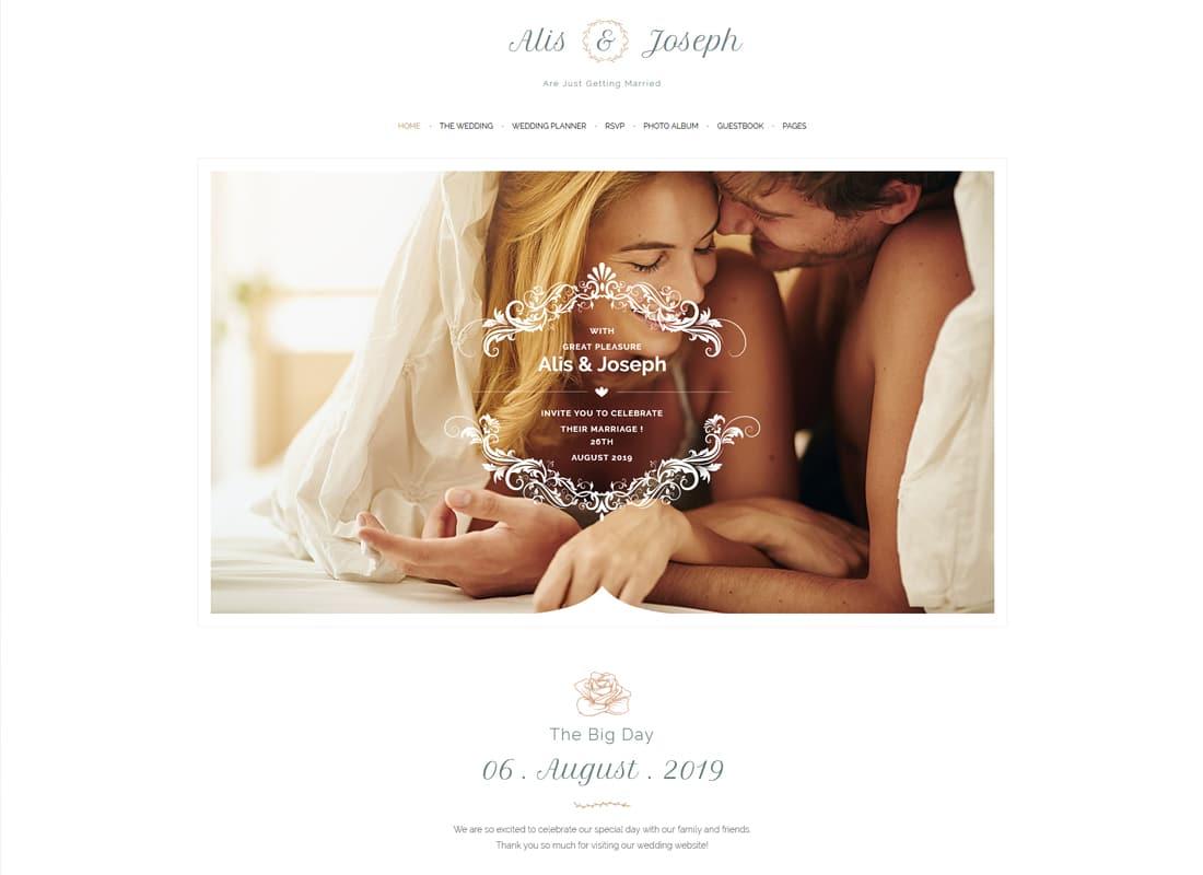 Alis - Wedding & Wedding Planner WordPress Website Template