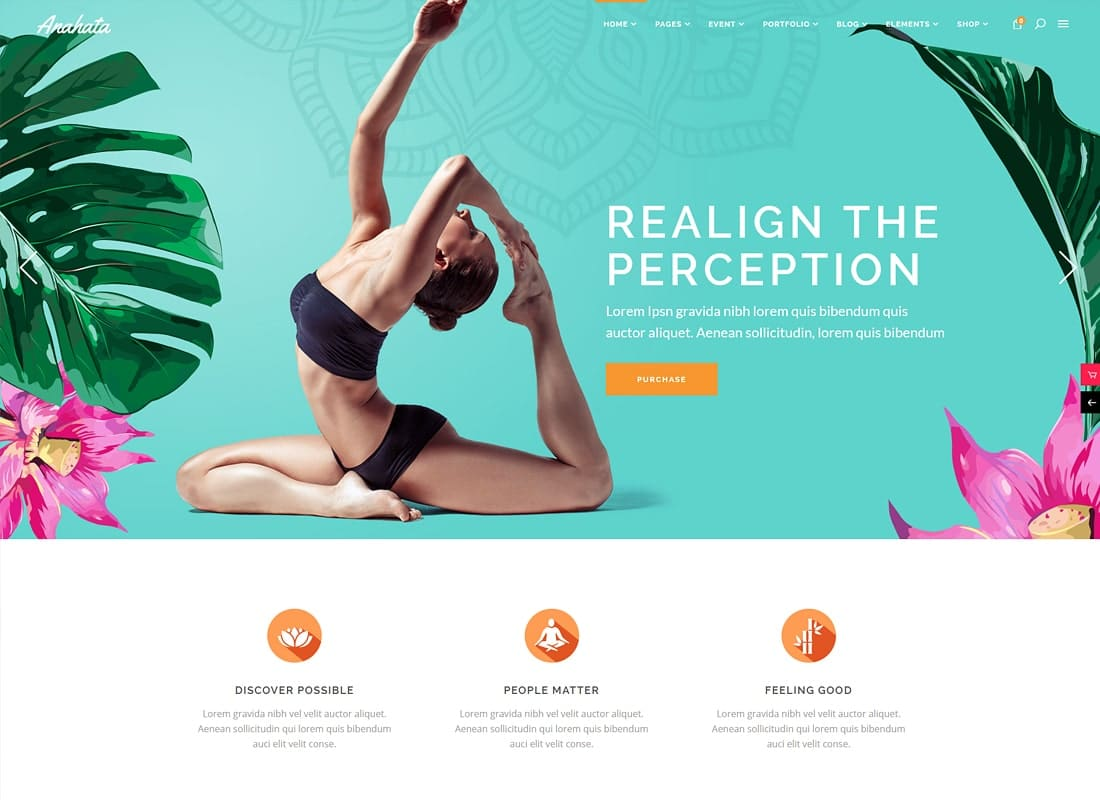Anahata - Yoga, Fitness and Lifestyle Theme Website Template