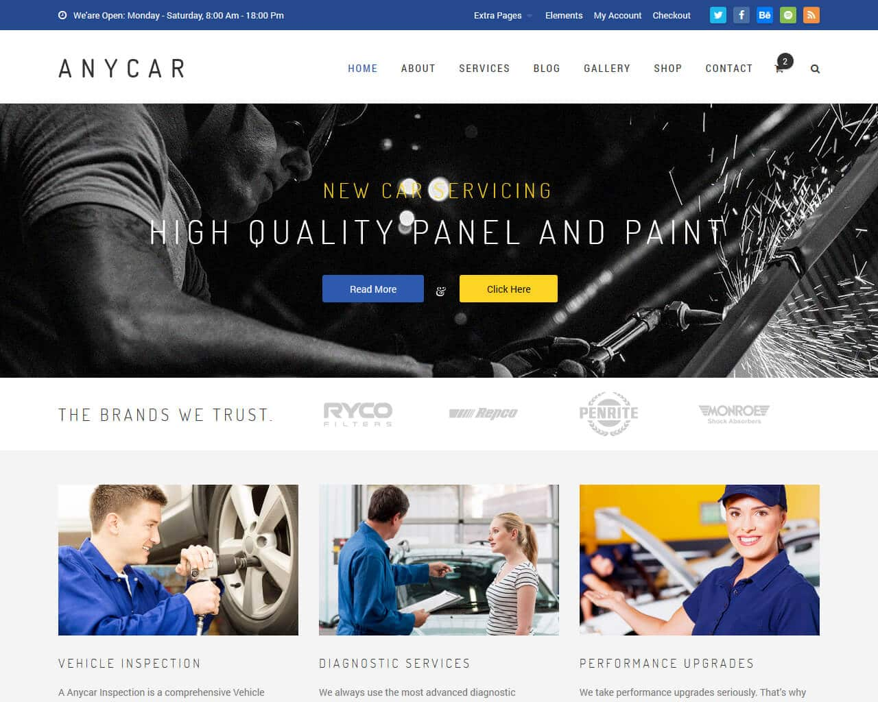 AnyCar Website Template