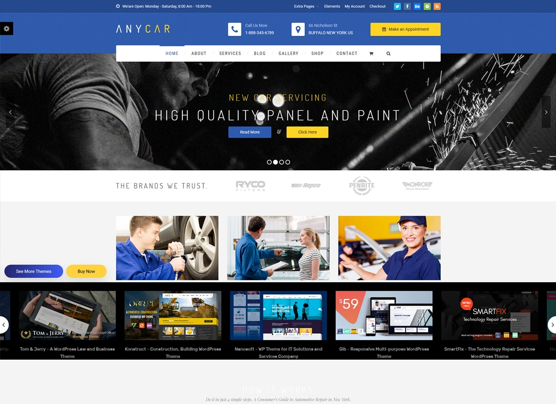 Automotive, Car Dealer, Dealership WordPress Theme - AnyCar   Website Template