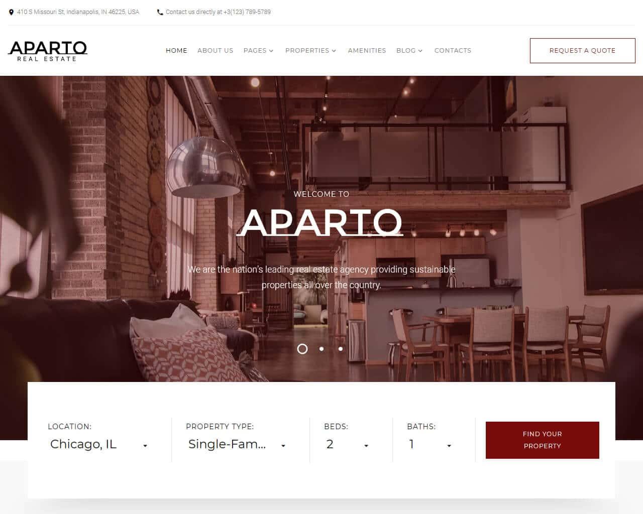 Aparto Website Template