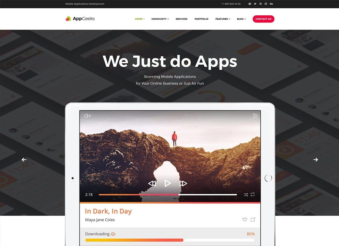 AppGeeks | A Web Studio & Creative Agency WordPress Theme Website Template