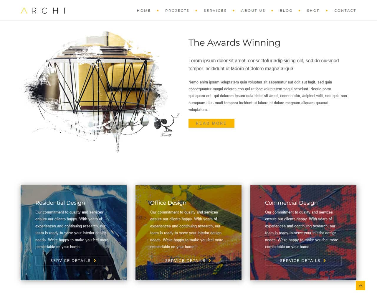 Archi Website Template