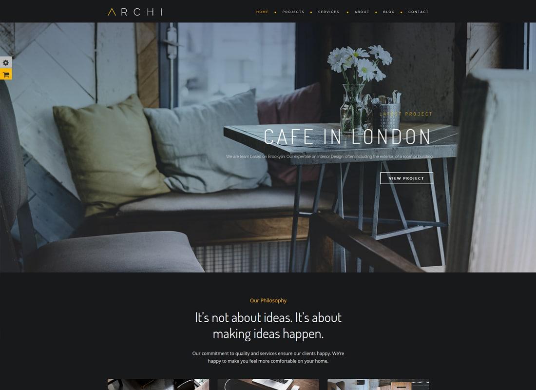 Archi | Interior Design WordPress Theme Website Template