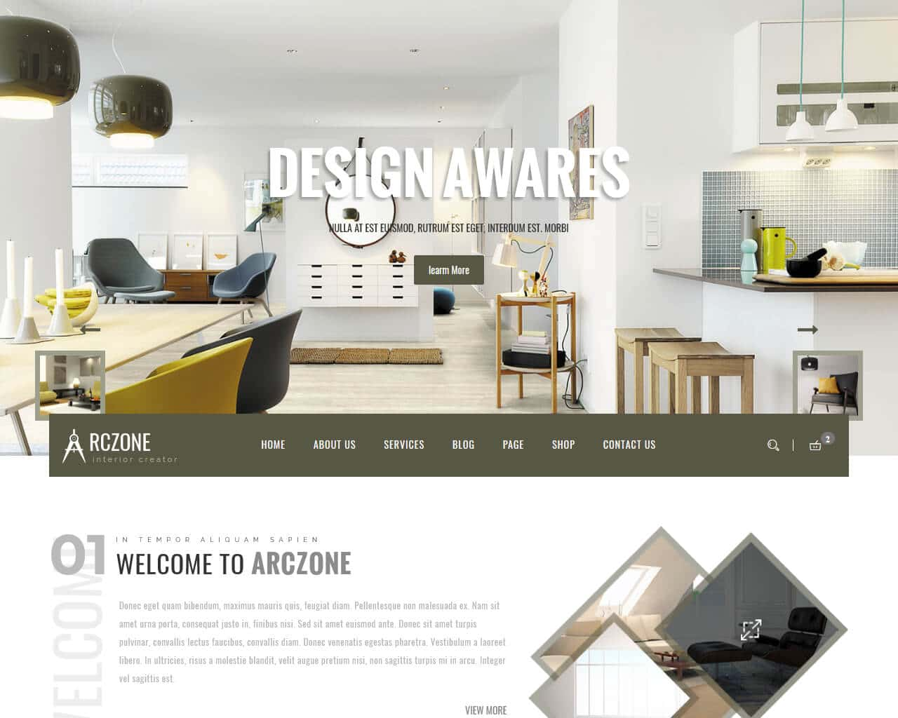 ARCZONE Website Template