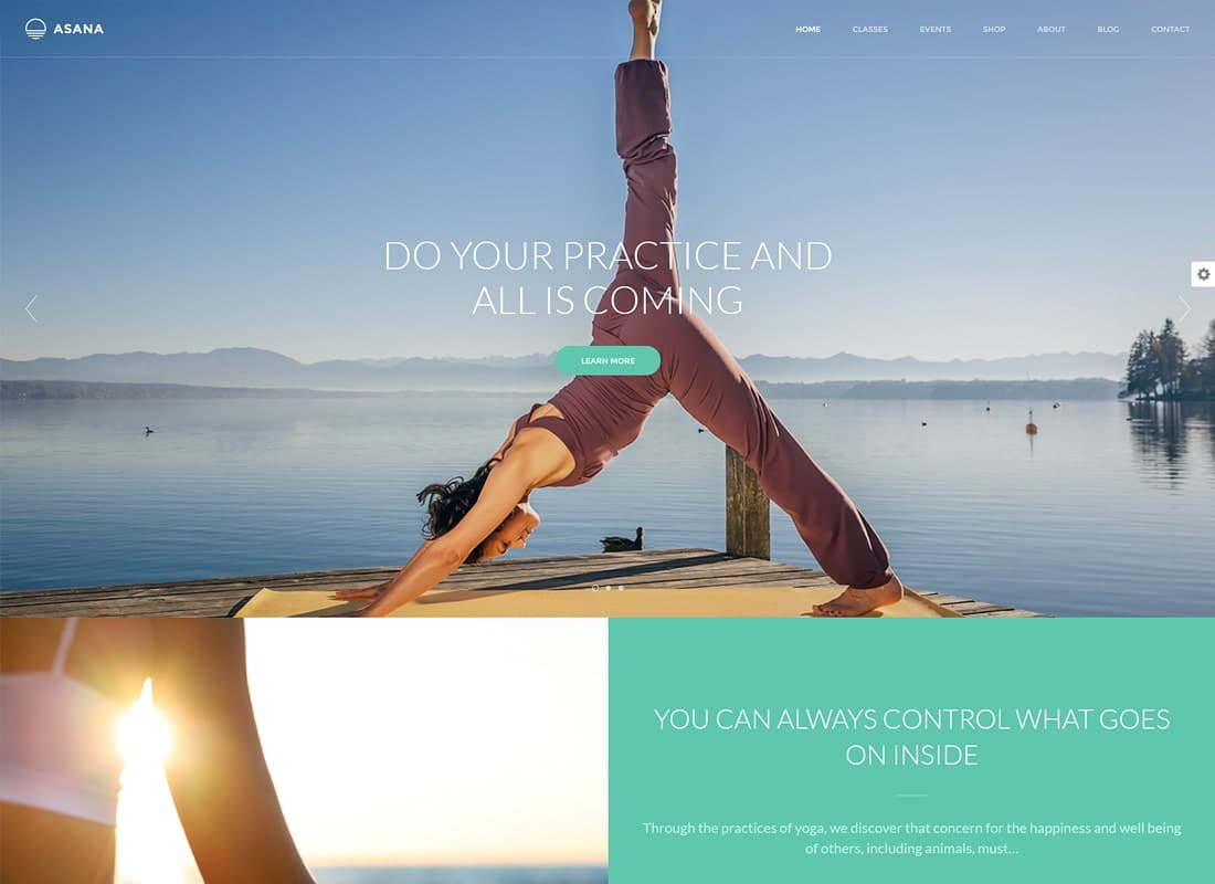 Asana - Sport and Yoga WordPress Theme Website Template