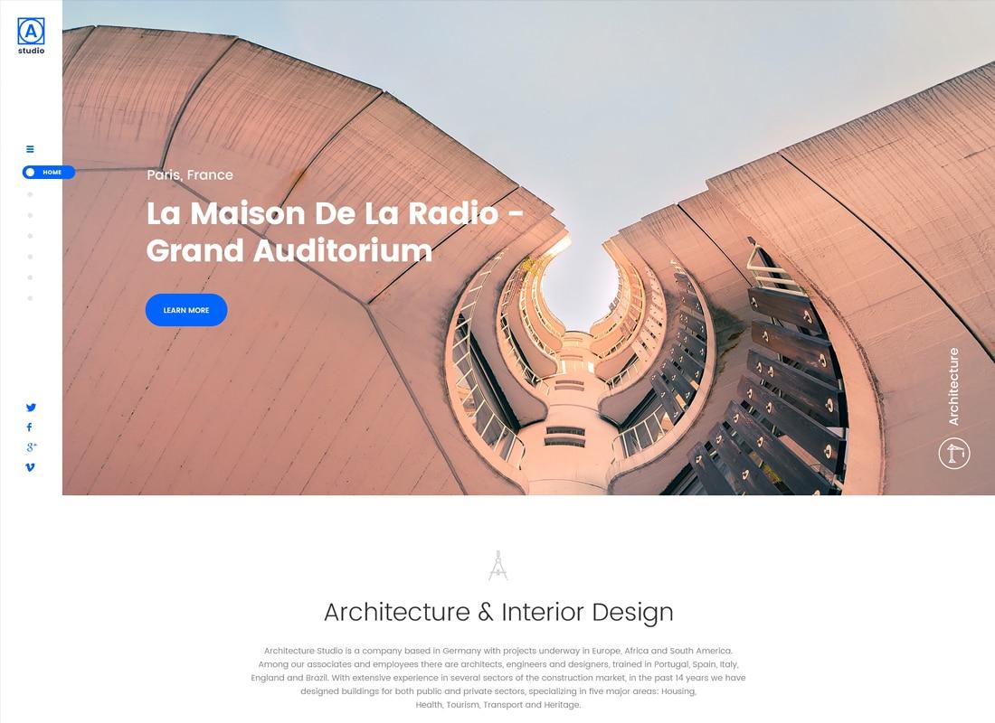 A.Studio | Interior Design and Architecture WordPress Theme Website Template