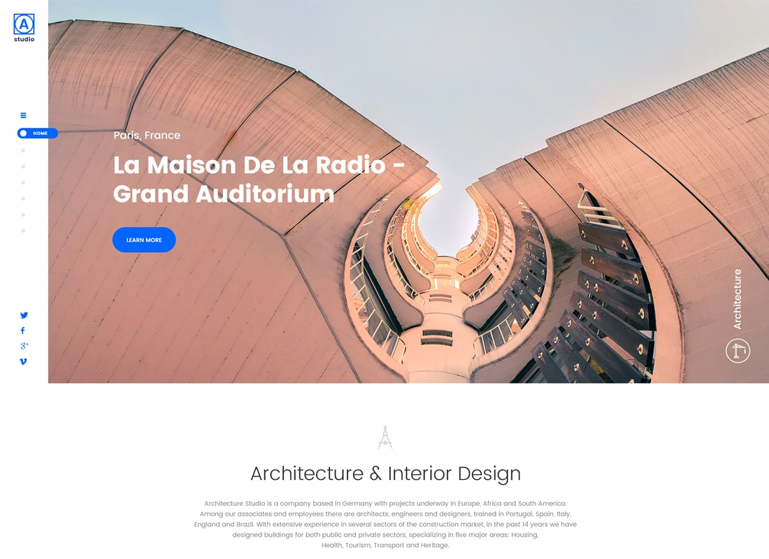 A.Studio | Interior Design and Architecture WordPress Theme Website Template