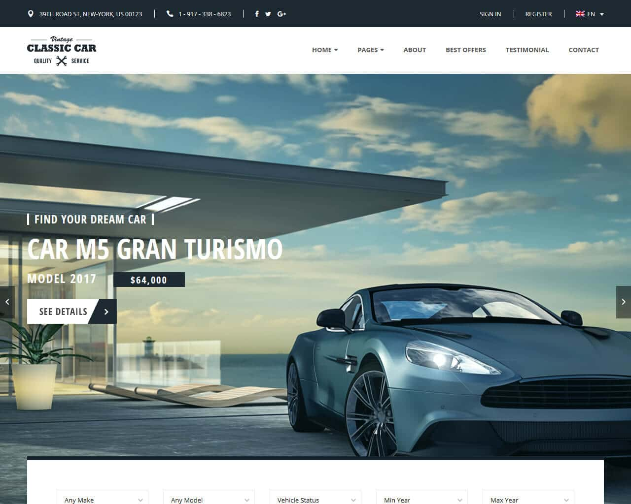 Auto Market Website Template