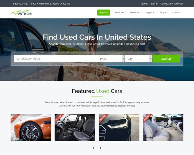 20+ Stunning Automotive & Cars Website Templates 2018