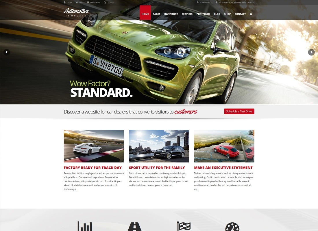 Automotive Car Dealership Business WordPress Theme   Website Template