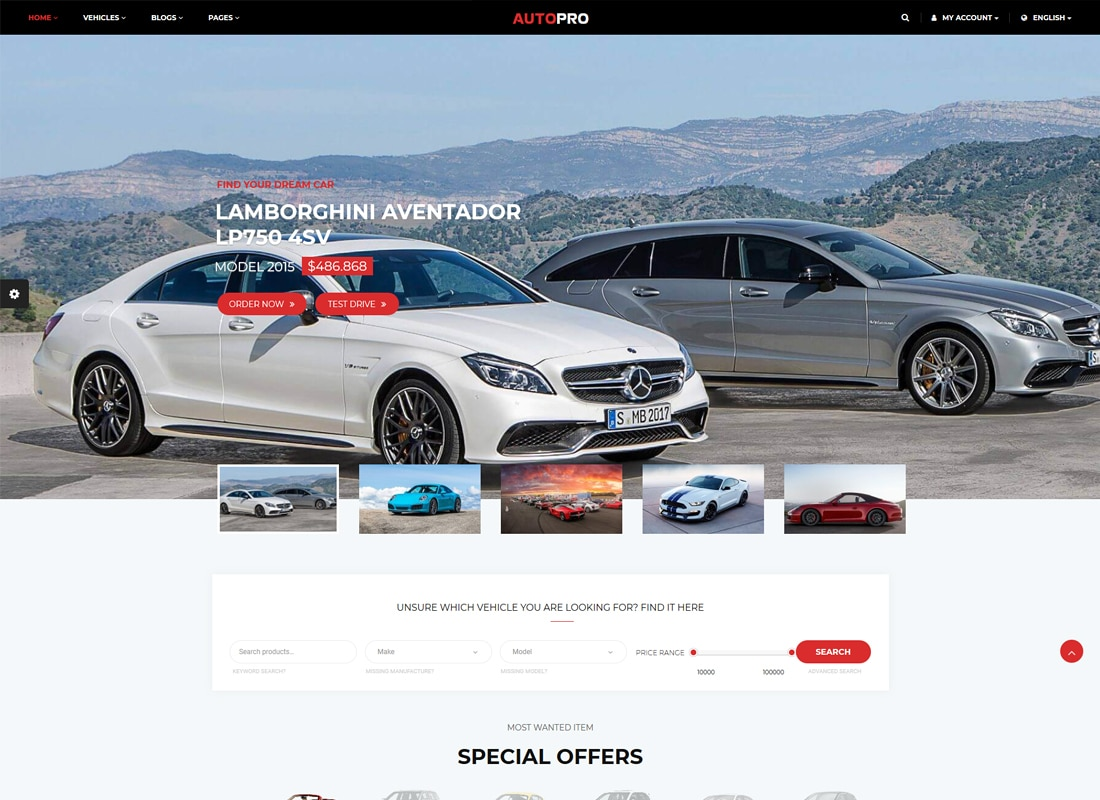 AutoPro - Car Dealer WordPress Theme   Website Template