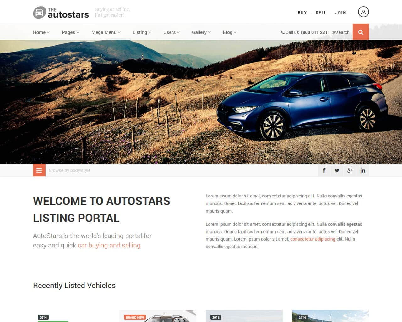 AutoStars Website Template
