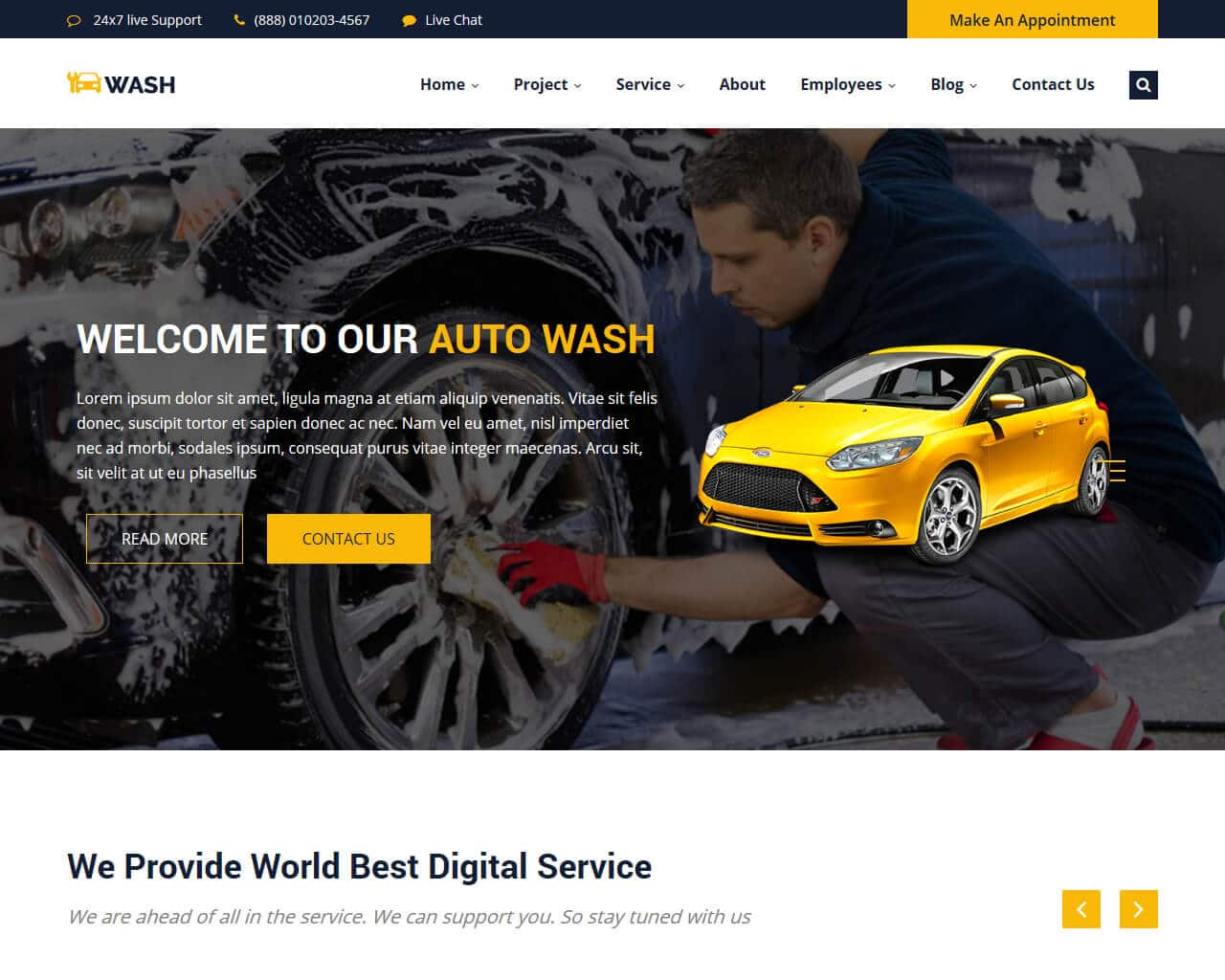 AutoWash Website Template