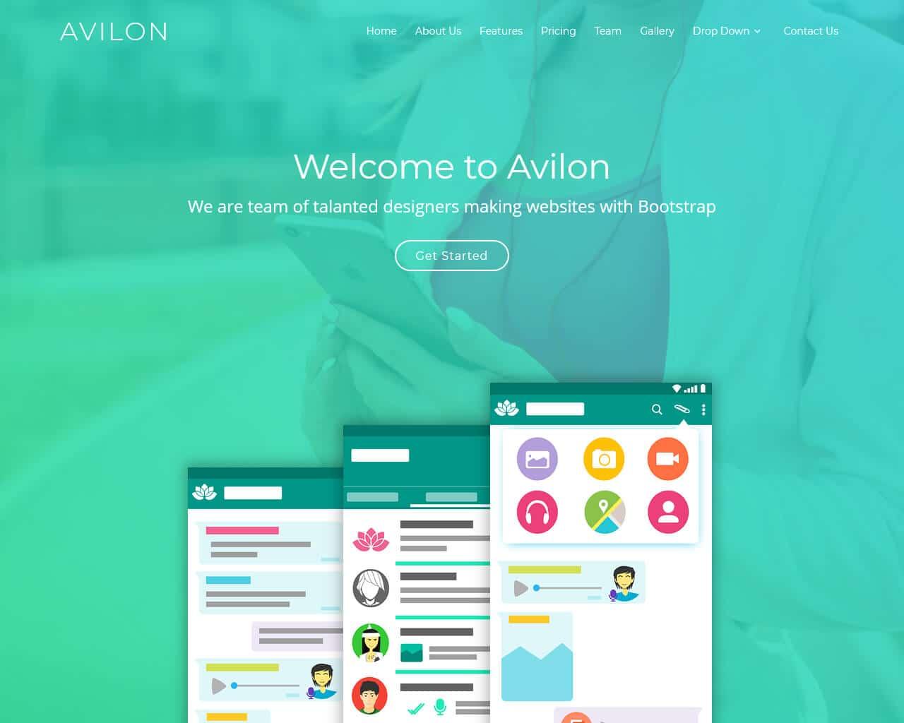 Avilon Website Template