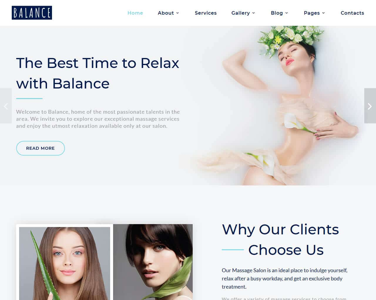 Balance Website Template