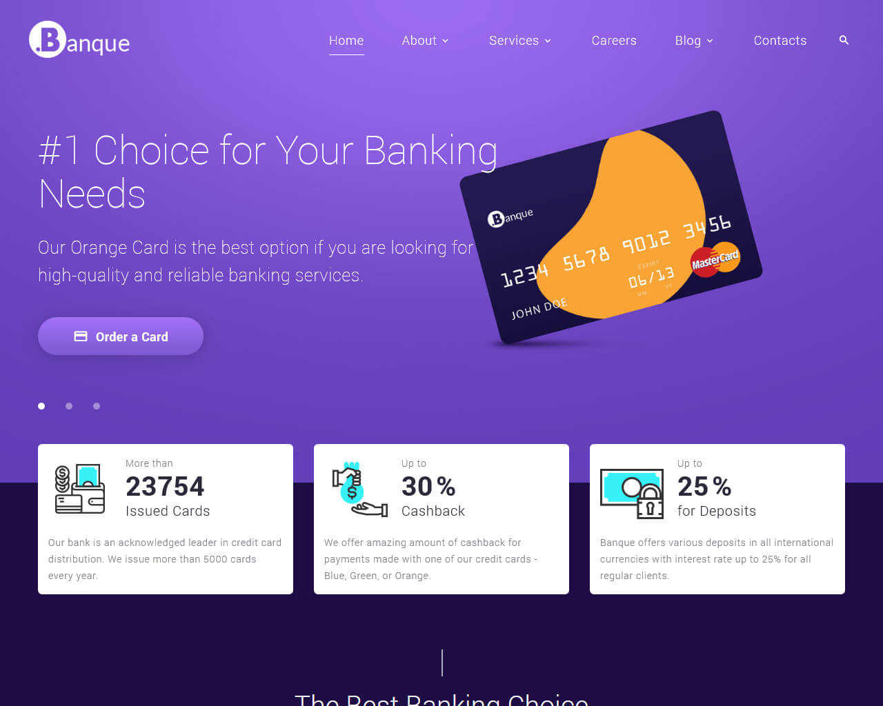 Banque Website Template