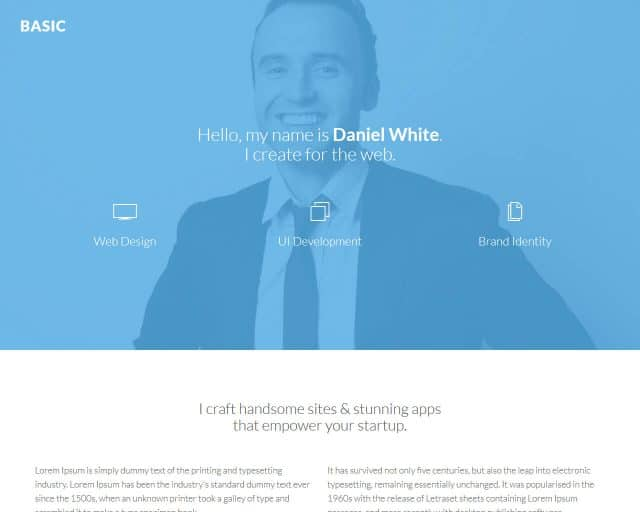 Basic – Bootstrap Personal Template