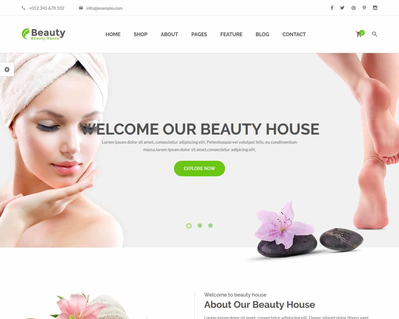 BeautyHouse Website Template