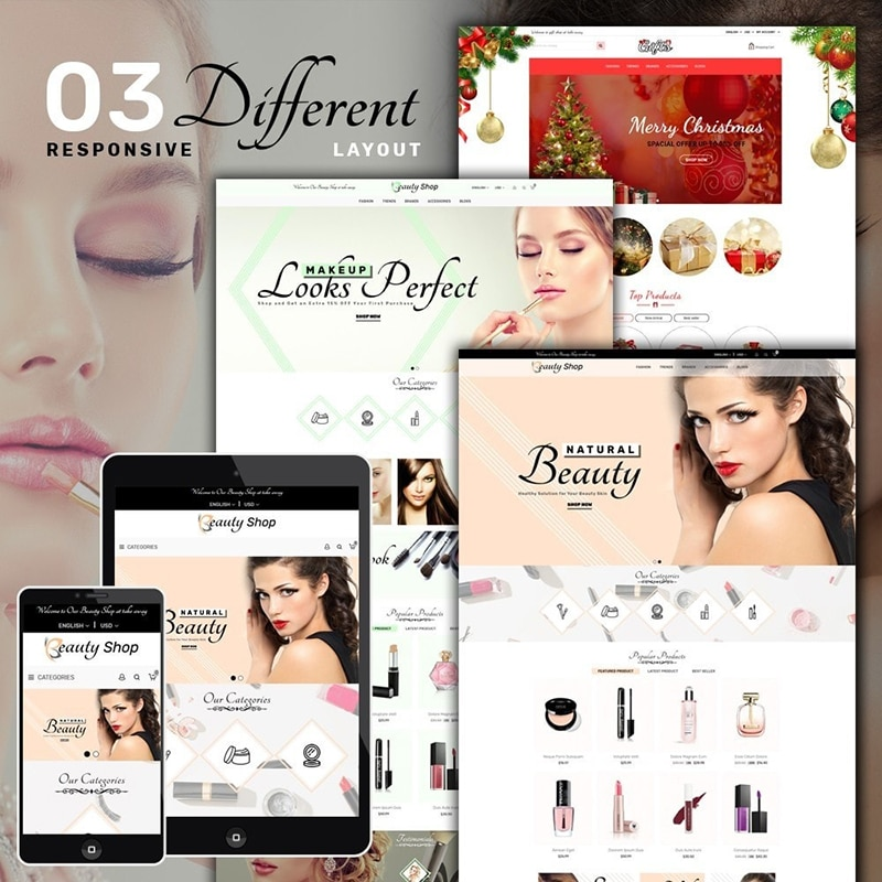 Health Beauty Shop Template Website Template