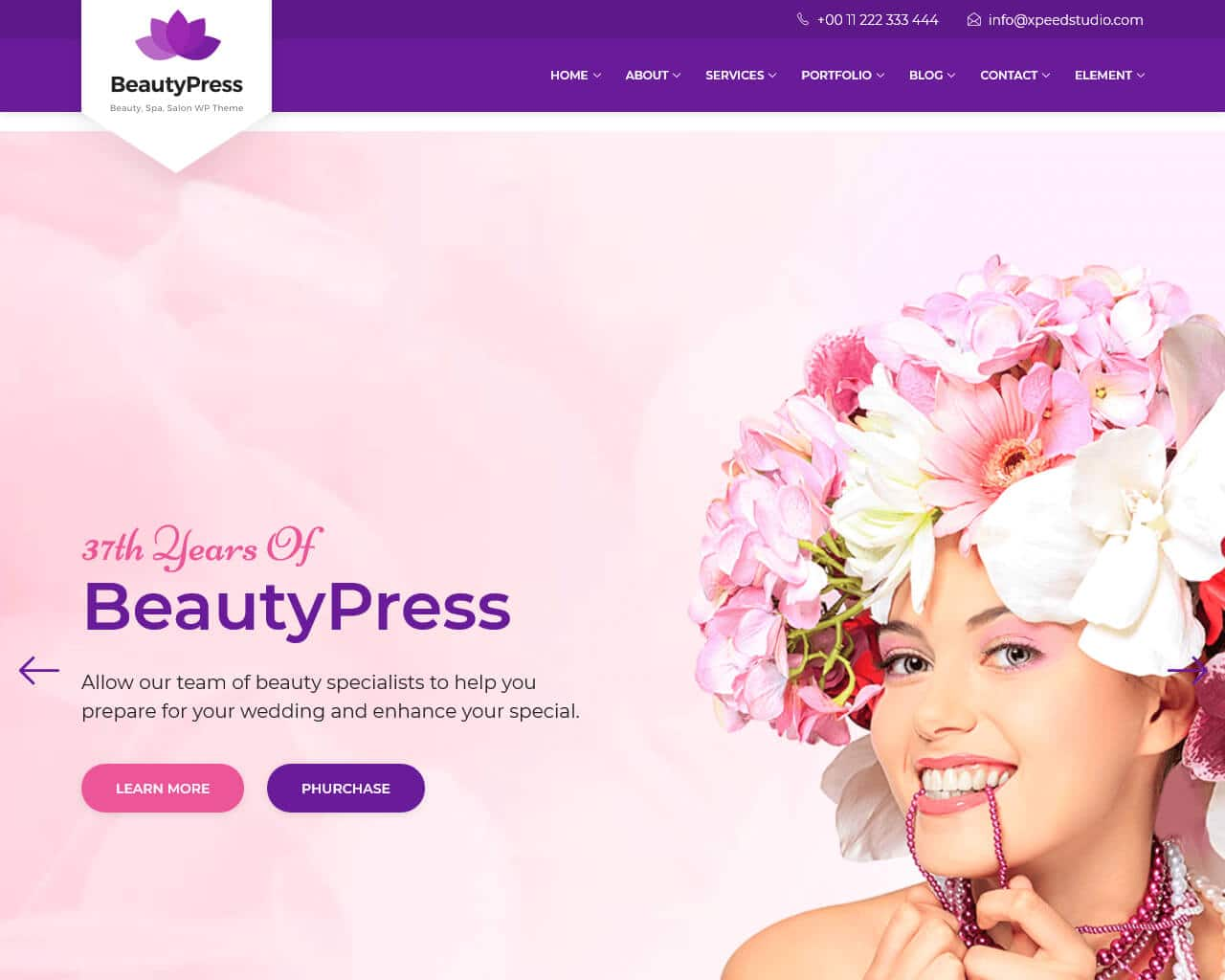 BeautyPress Website Template