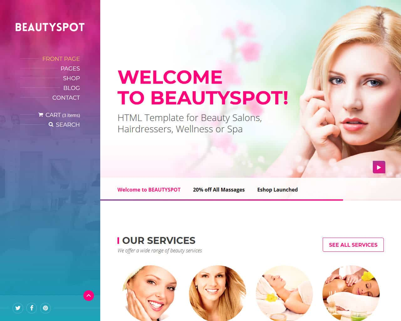 BeautySpot Website Template