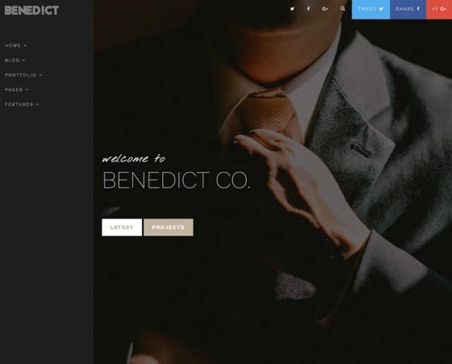 Benedict – Creative Side Navigation Blog/Portfolio template
