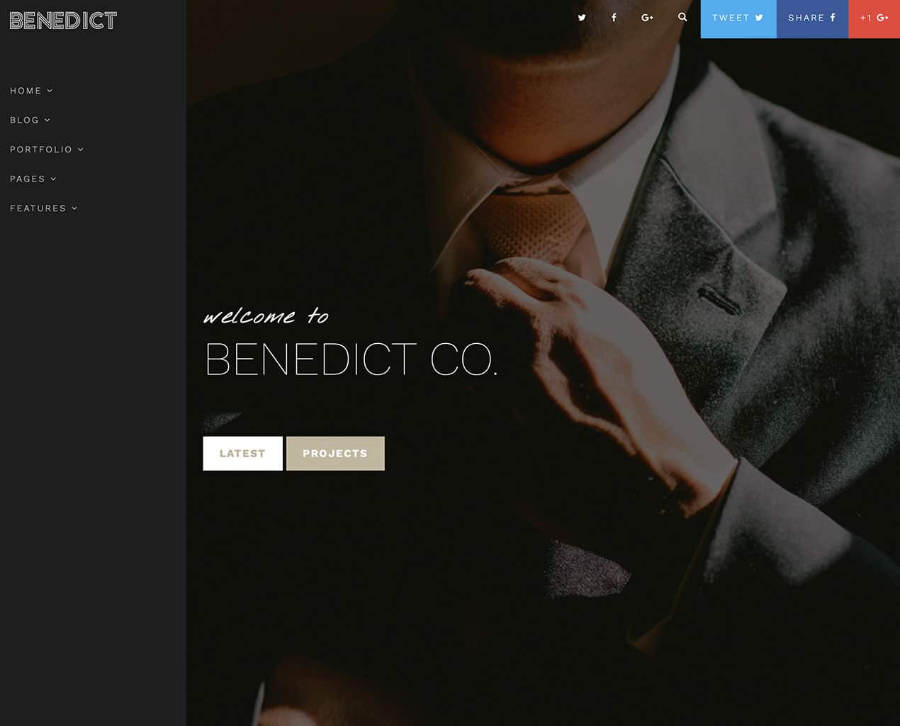 Benedict – Creative Side Navigation Blog/Portfolio template