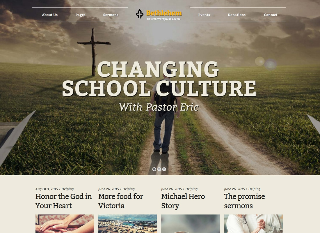 Bethlehem | Church WordPress Theme Website Template