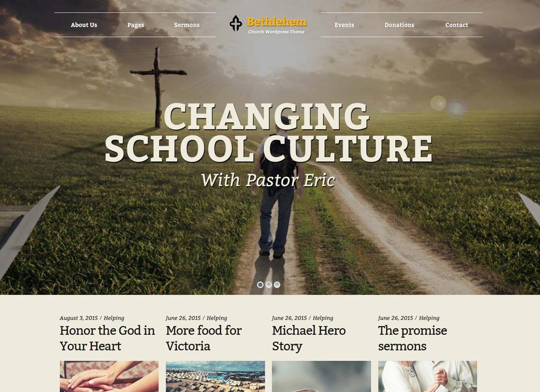 Bethlehem | Church WordPress Theme Website Template