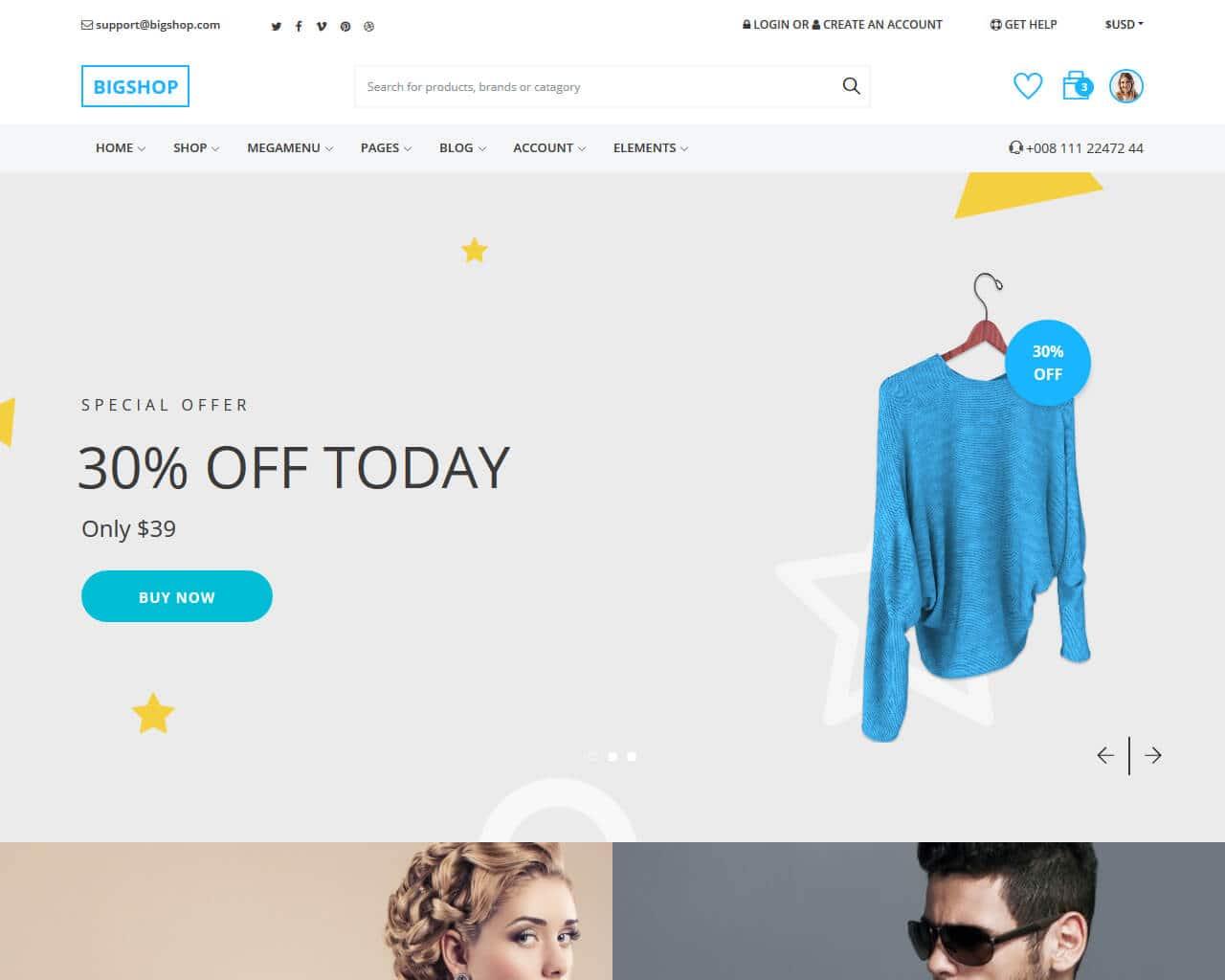 BigShop Website Template