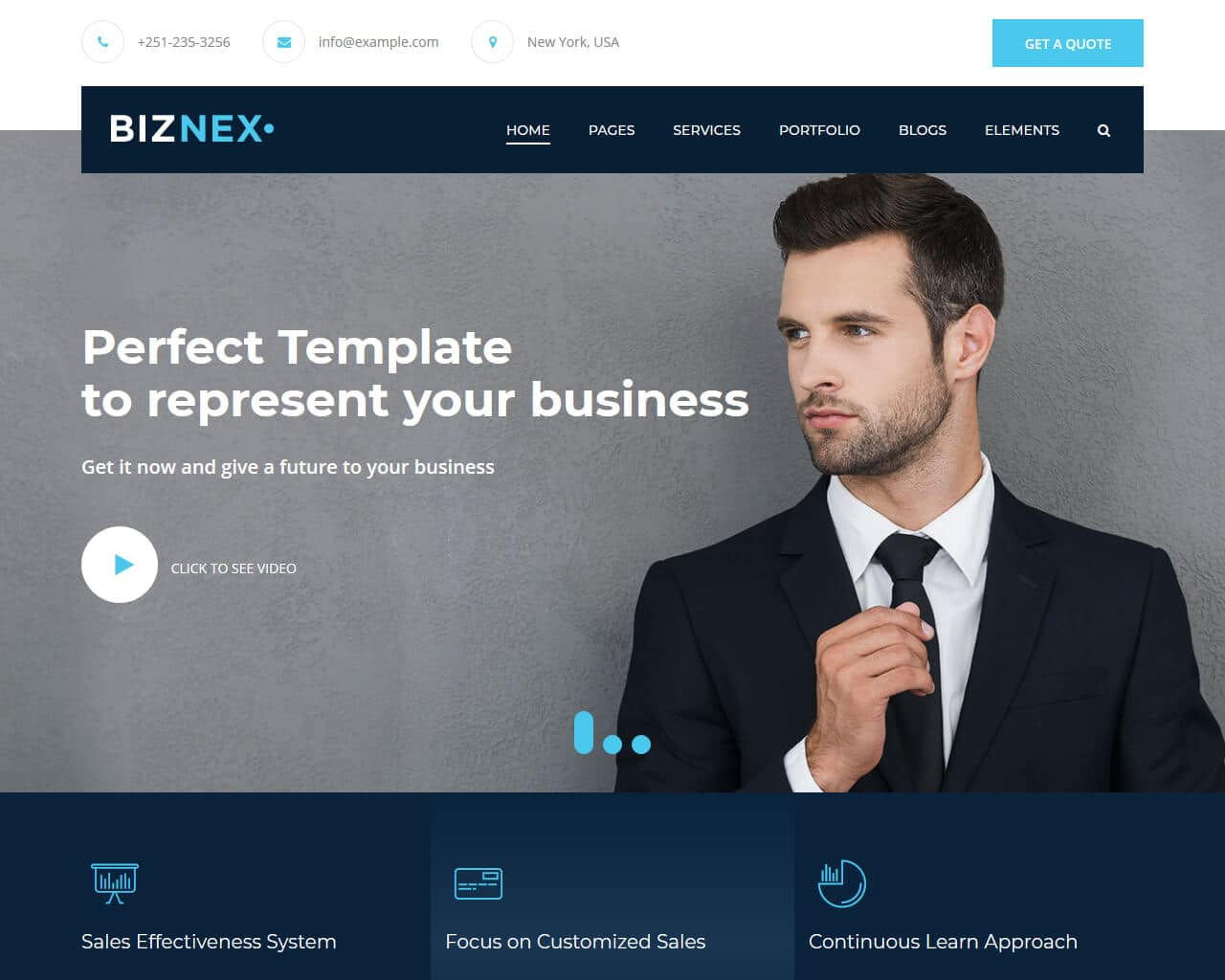 Biznex Website Template