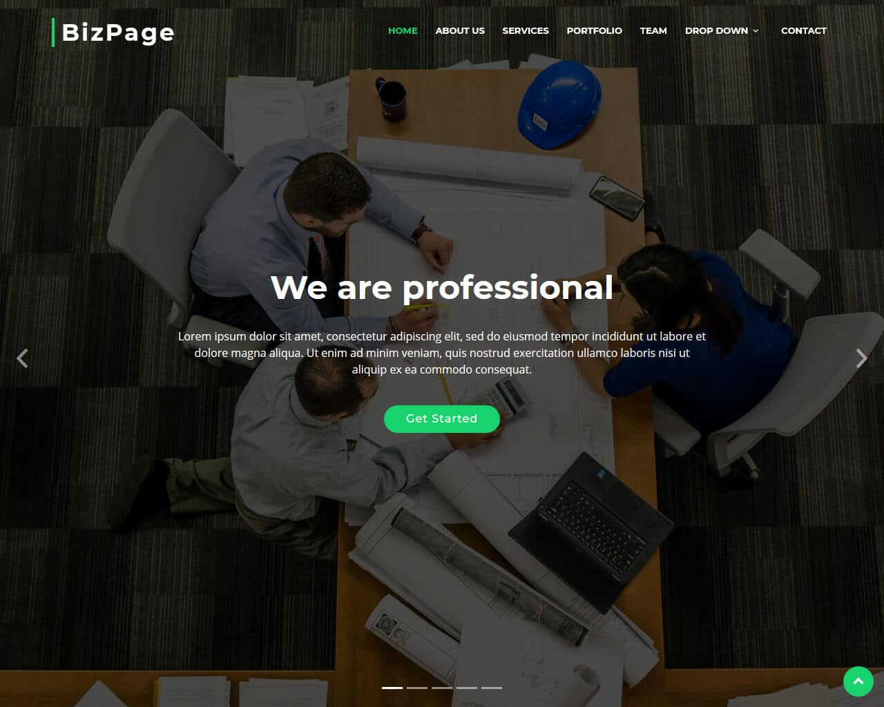 BizPage Website Template