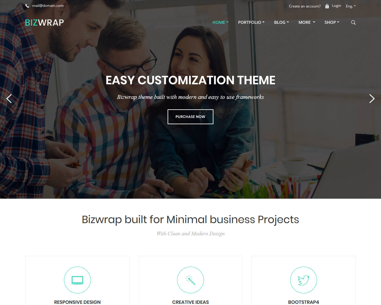 Bizwrap Website Template