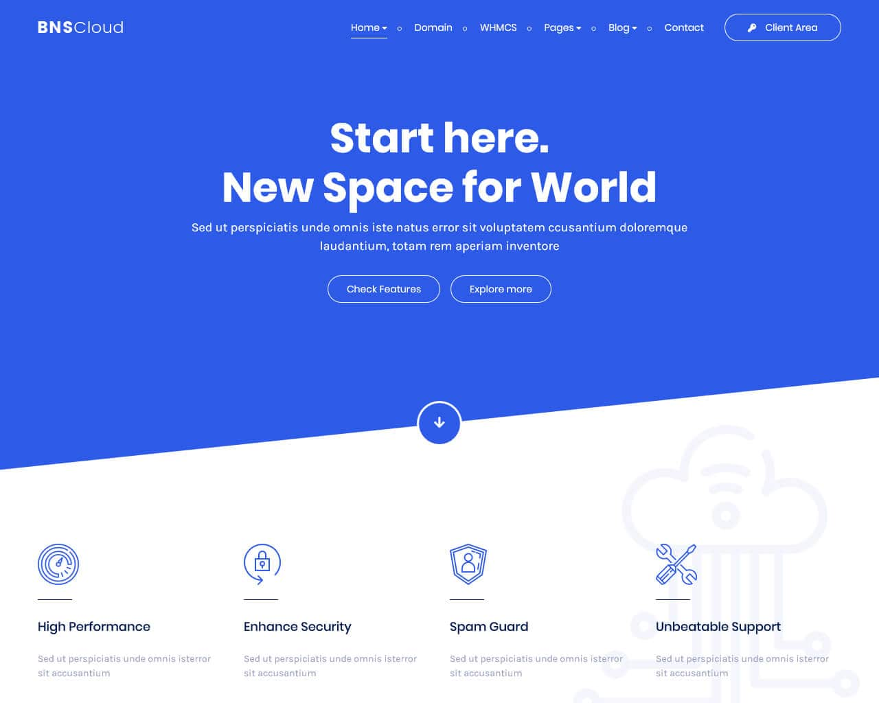 BNSCloud Website Template