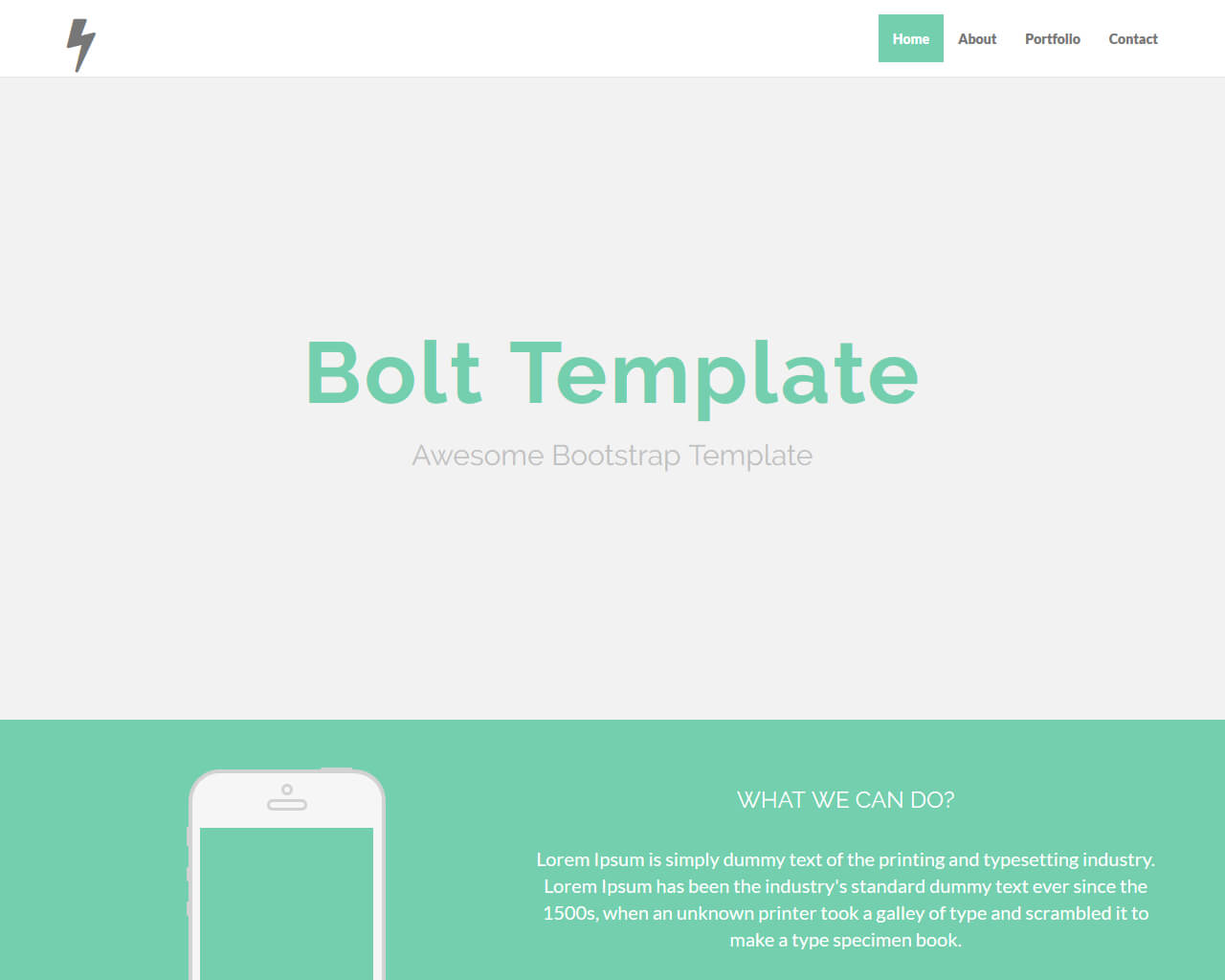 Bolt – Bootstrap Agency Template
