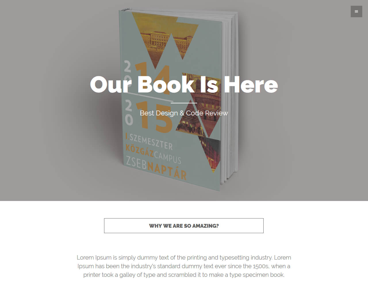 BookLanding Website Template