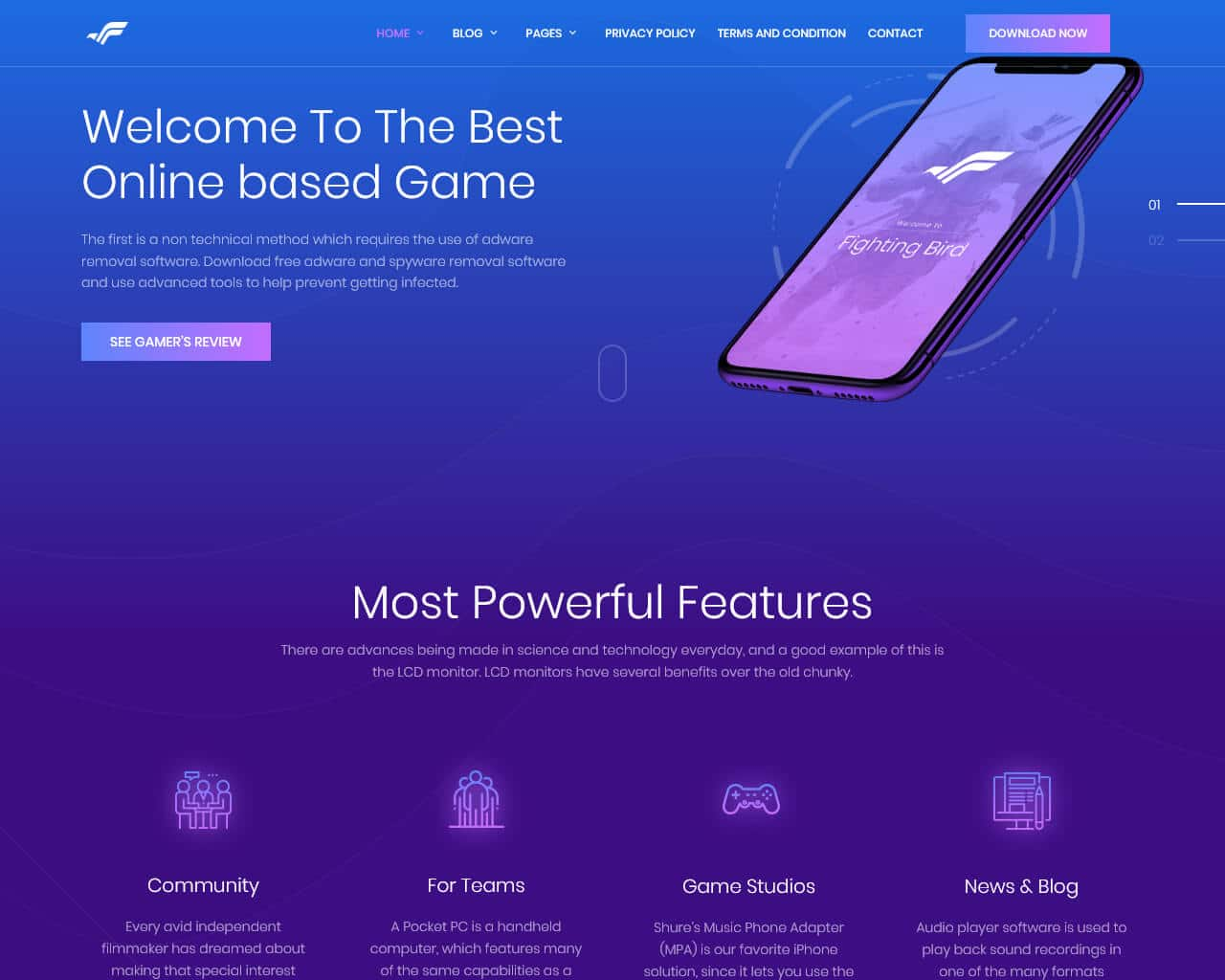 Bravapp Website Template